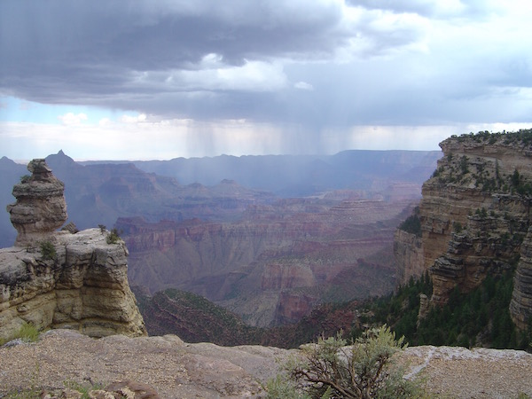 Regen über´m Grand Canyon