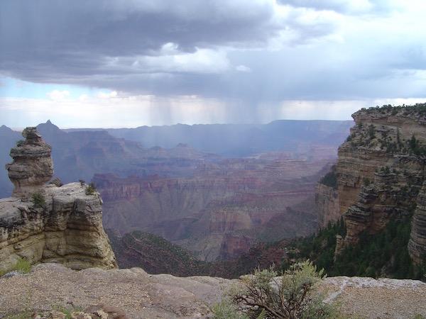 Regen über´m Grand Canyon