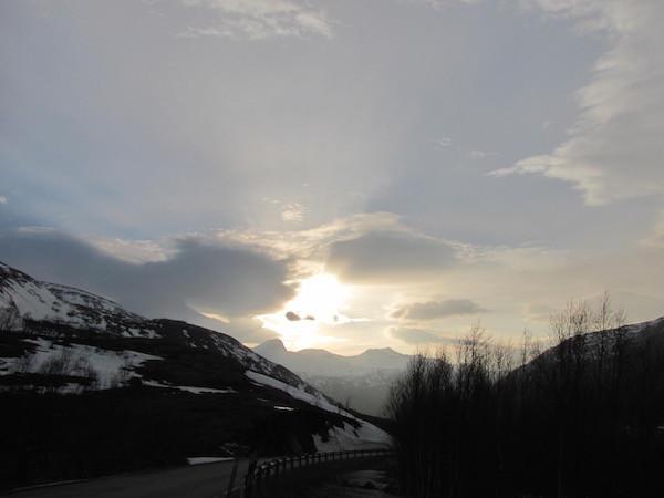 Winter-Panorama im schwedischen Teil Lapplands