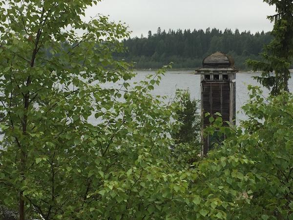 Norrbyskär: Leuchtturm aus Holz