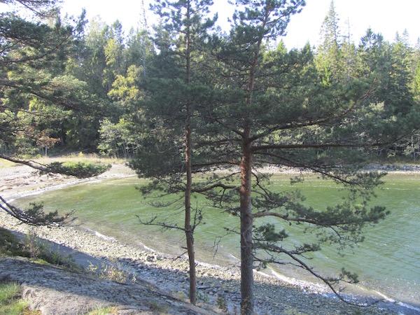 Strandbucht im Skuleskogen Nationalpark in Schweden