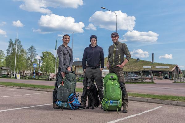 Dima (links) und Udo (rechts) - die beiden Backpacker waren mir von der ersten Minute an total sympathisch.