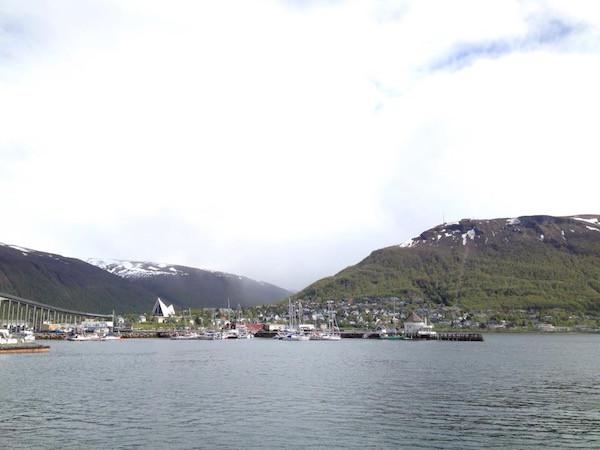 Hafen von Tromsø im norwegischen Teil Lapplands