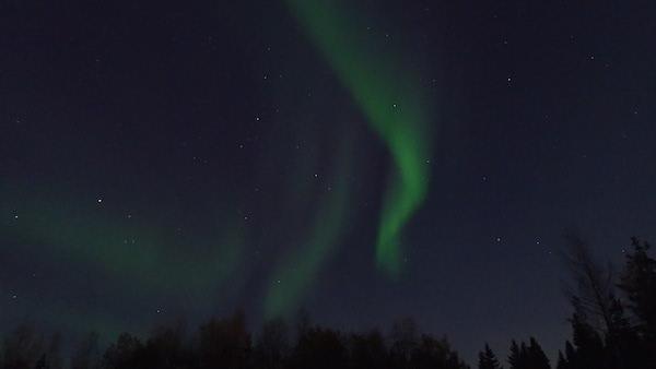 Grüne Polarlichter