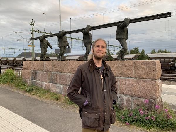 Rasmus Norling am Bahnhof in Kiruna | Foto: Ekaterina Venkina