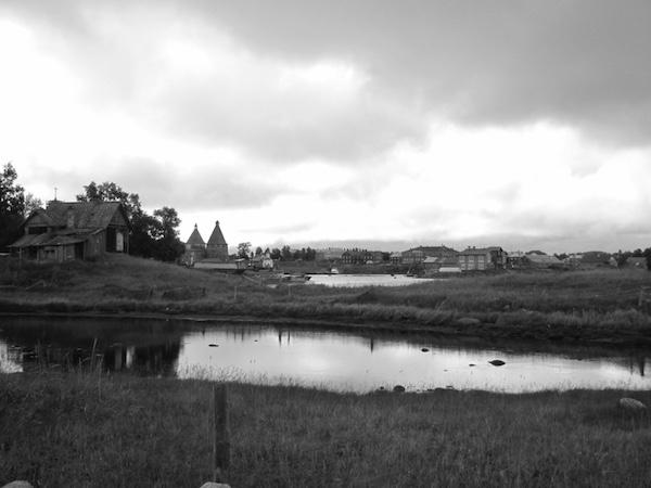 Schwarz weiß Szene Solowetzki Inseln