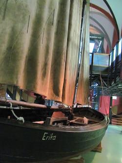 Strandboot Erika im Meeresmuseum in Stralsund