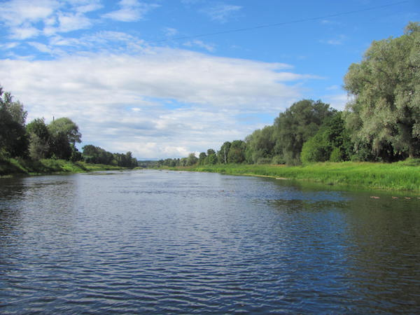 Gauja River, Valmiera Lettland