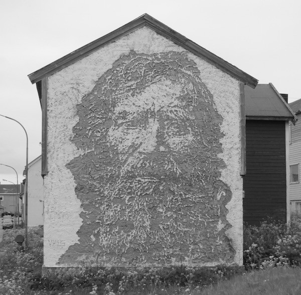 Man. Carved in Stone by VHILS. Vardø, Norway
