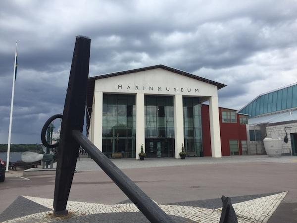 Marinmuseum und Skulpur, Karlskrona, Schweden