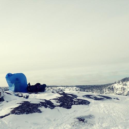 Auf Schneeschuhen im Skuleskogen Nationalpark