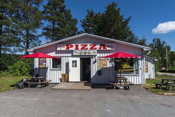 Pizzeria, Köpmanholmen (Hohe Küste, Schweden)