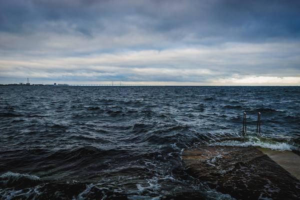 Blick auf die Malmö und Öresundbrücke