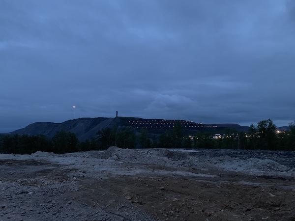 Die Mine in Kiruna im Abendlicht mit Beleuchtung | Foto: Ekaterina Venkina