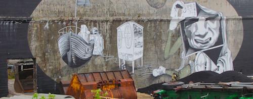 Streetart, Vardø, Norwegen