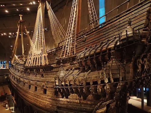 Die Vasa im Vasamuseum in Stockholm