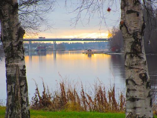 Umeå, Kolbäcksbron, Ume älven, Sundown