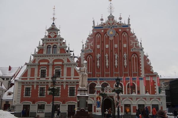 Schwarzhäupterhaus in Riga am Rathausplatz