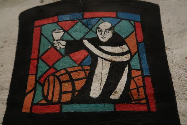 Mönch mit Glas, Bild in Tallinn