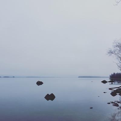 Morgenstimmung am See Hjälmaren