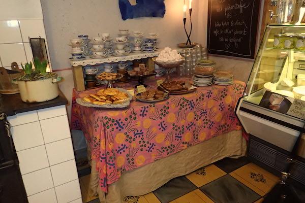 Gebäckbuffet Bredsjö Blå Ostcafét, Käsecafé Hällefors