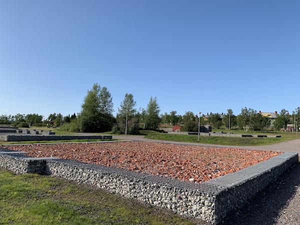 Eine Gabione in Kiruna | Foto: Ekaterina Venkina
