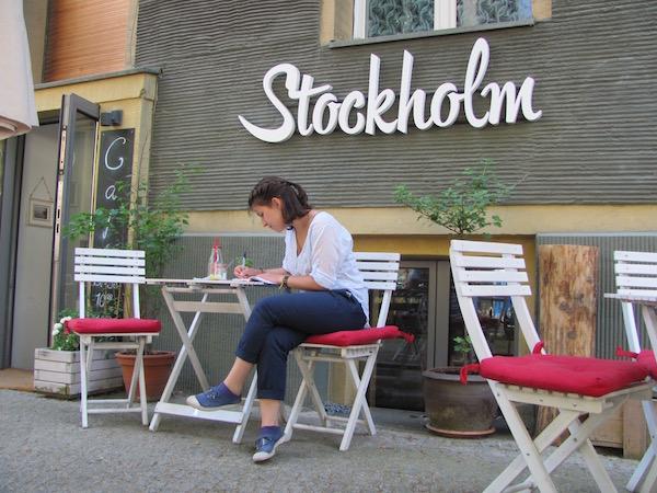 Café Stockholm in Berlin, Außenbereich