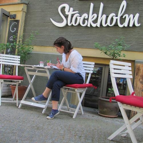 Im Café Stockholm in Berlin