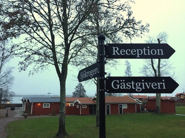 Katrinelund: Schilder und Ausblick