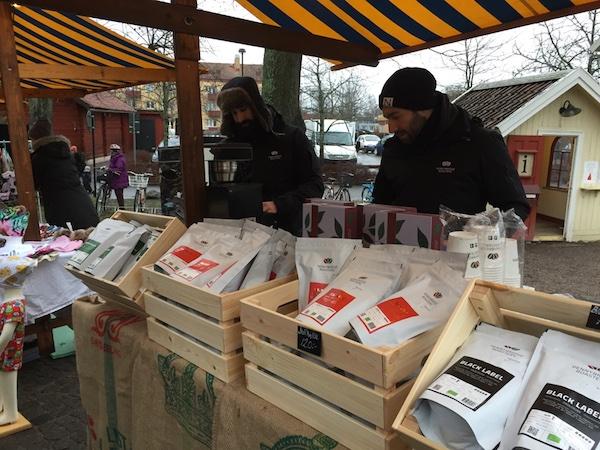 Die Pennybridge Roasters auf dem Weihnachtsmarkt im Wadköping in Örebro
