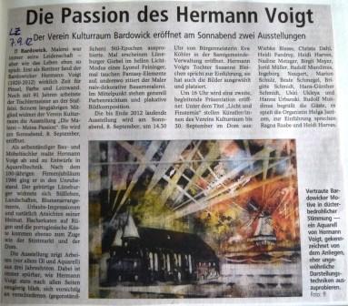 Landeszeitung, 07.09.2012