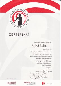 Ich habe meine schriftliche und praktische Prüfung an der Veterinär Universität Wien abgelegt