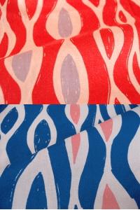 夢二式浴衣 波織 カラー:赤・紫