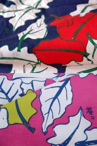 夢二式浴衣 葉月 カラー:紺・ピンク