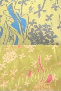 夢二式浴衣 たんぽぽ カラー:黄色・緑