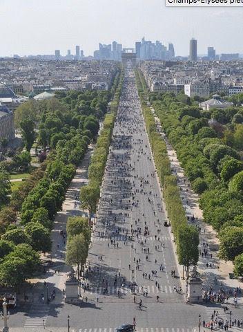 Les Champs Elysées, Paris, piétonnier les premiers Dimanche du mois