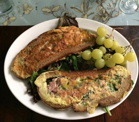 Your omelet in a toast for your breakfast at key2paris