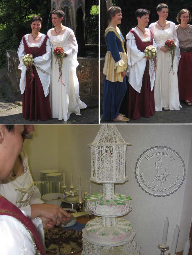 Mittelalterliche Hochzeitsgewänder, Mittelalter Gewand, Mittelalterkleid