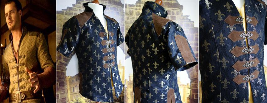 Mittelalterliche Gewand Jacke französische Lilie