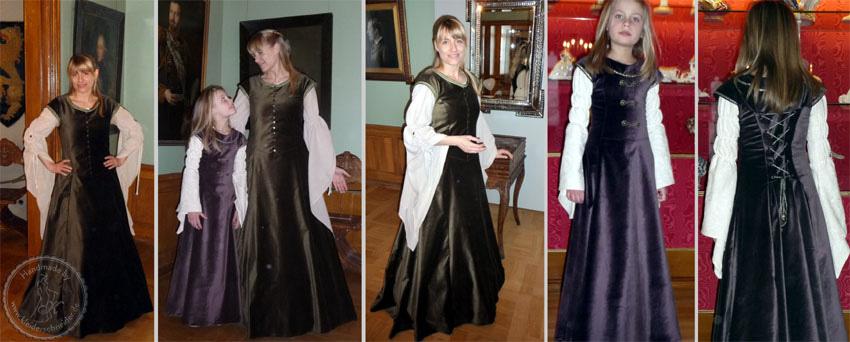mittelalterliche Gewänder, Gewandungen, Mittelalterkleid, Kindergewand