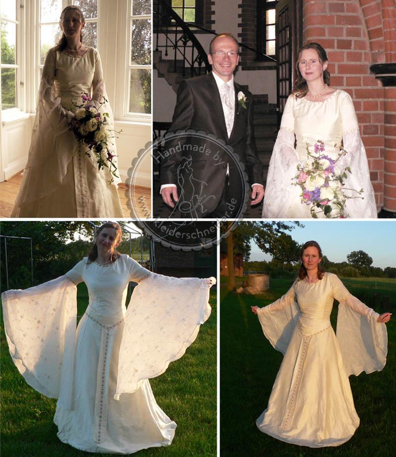 Brautkleid Feenkleid Elbenkleid Hochzeitskleid