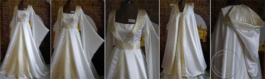 Brautkleid mit Tasselmantel Mittelaltergewand