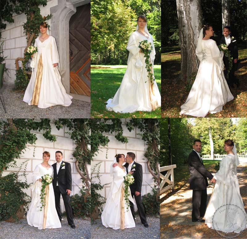 Wunderschönes Hochzeitkleid, Mittelaltergewand, Gewandung