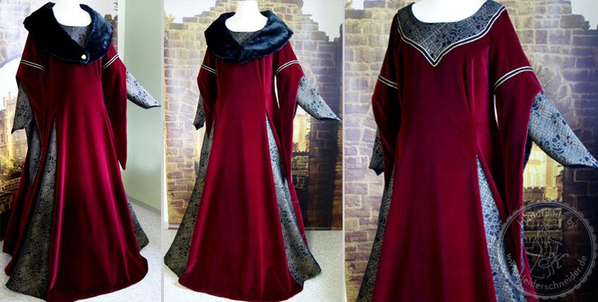 Mittelalterkleid, Mittelaltergewand, Hochzeitsgewand