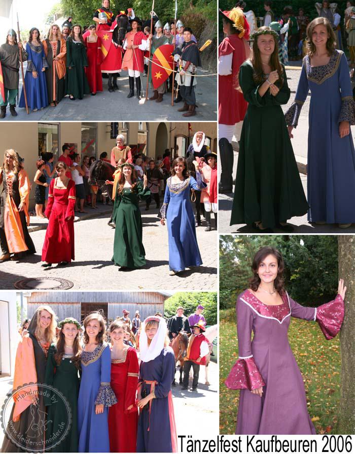 Tänzelfest Kaufbeuren, Mittelaltergewandungen, Mittelalterkleid, Gewänder