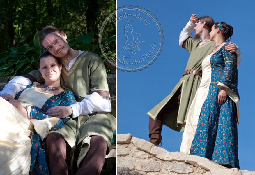 Mittelalterhochzeit, Mittelalterkleider, Mittelaltergewandungen, Tunika