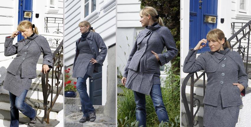 Walklodenkleid & Stiefelkleid, Hüftschmeichler, Hüftrock, Walklodenjacke Poncho