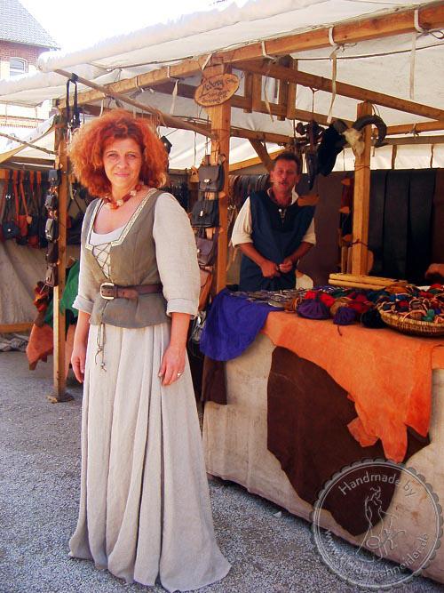 Mittelalterliches Marktgewand, Mittelalterkleid, Mittelalter Gewand