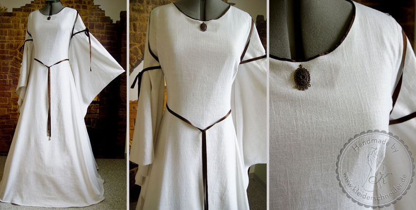 Mittelalterkleid aus Bio Leinen