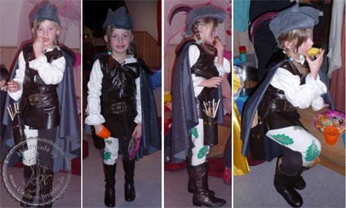 Jäger Kostüm, Aschenputtel Gewand
